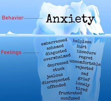 Feelings that cause anxiety