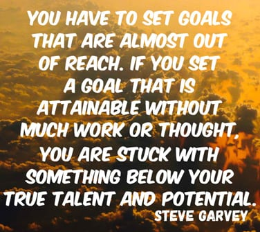 Setting goals and success
