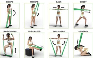 Resistance Band home fitness workouts images
