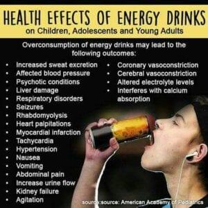 Negative side effects energy drinks-list